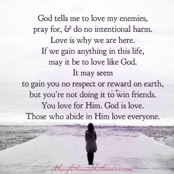 Forgiveness – God=Love